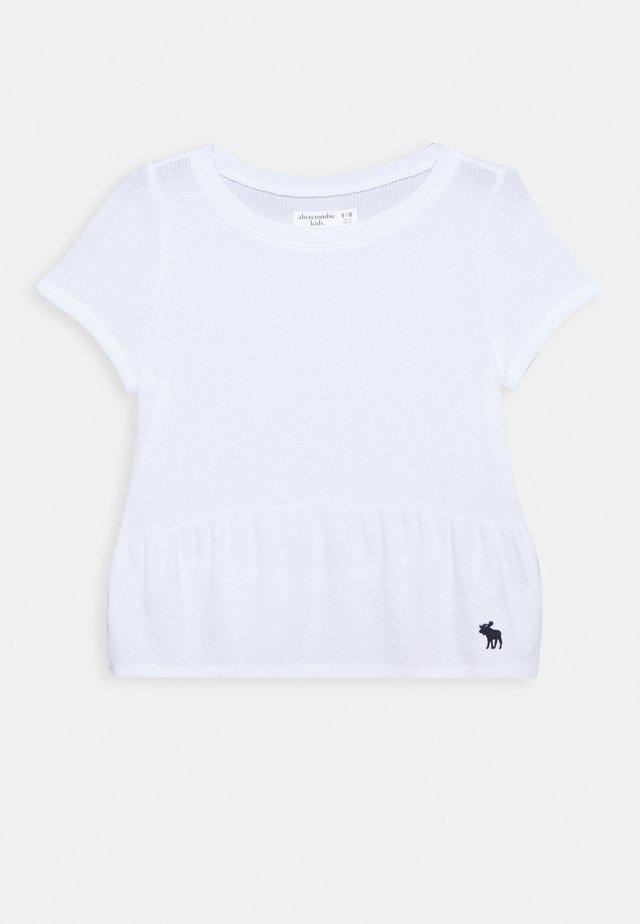 RUCHED TEE - Camiseta básica - white
