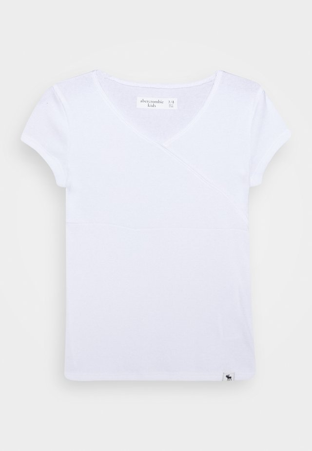 WRAP FRONT TEE - Basic T-shirt - white