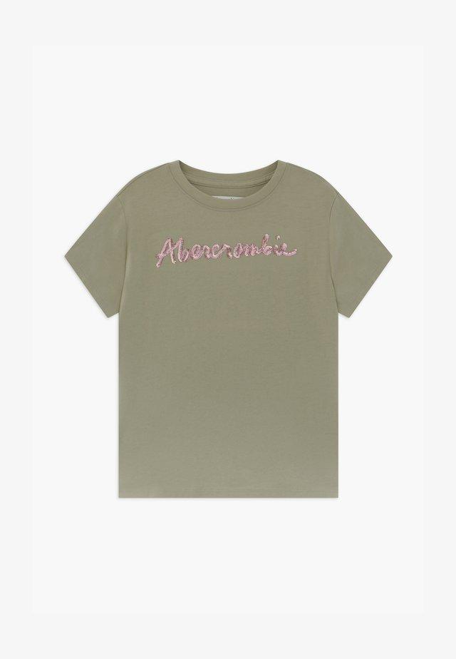 SEQUIN LOGO TEE - T-Shirt print - light green