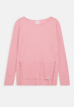 OVERSIZED WAFFLE TEE - Longsleeve - blush pink