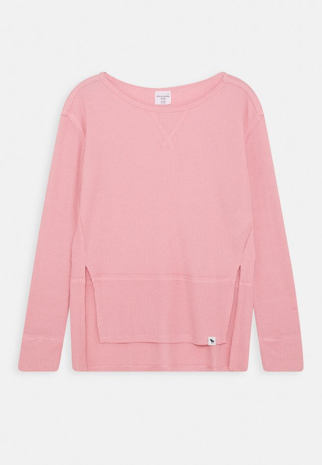 OVERSIZED WAFFLE TEE - Long sleeved top - blush pink