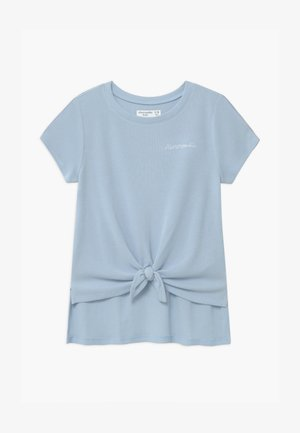 WAFFLE TIE FRONT - T-shirt print - blue