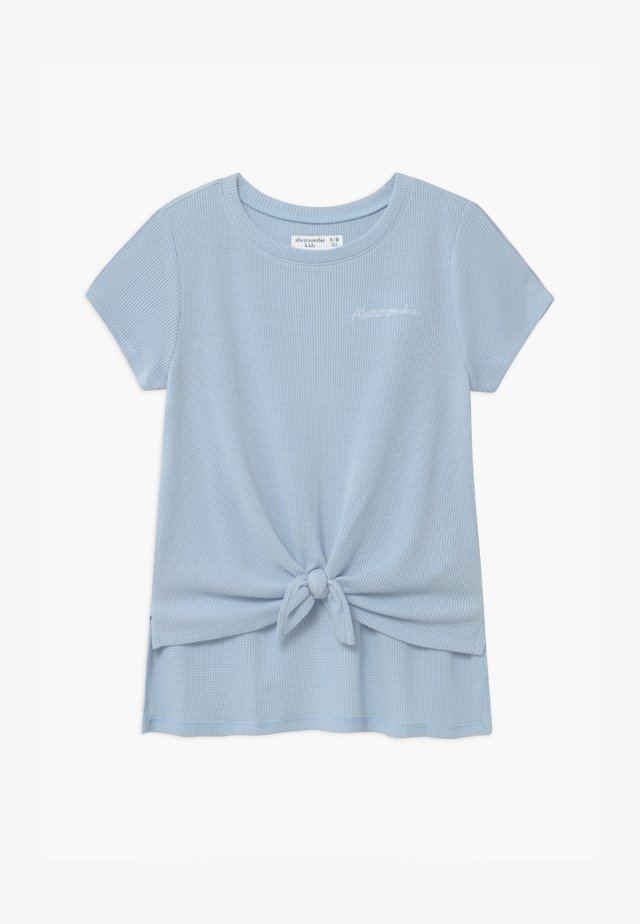 WAFFLE TIE FRONT - Print T-shirt - blue