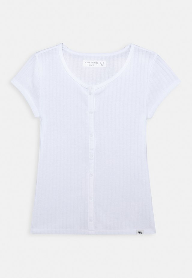 BUTTON - T-shirt - bas - white