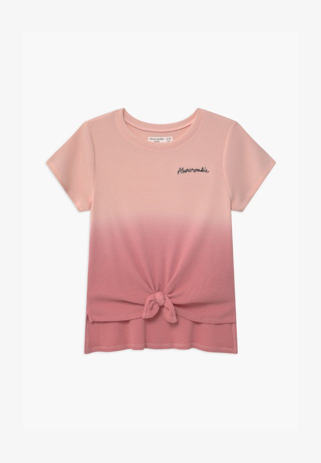 WAFFLE TIE FRONT - T-shirt med print - pink