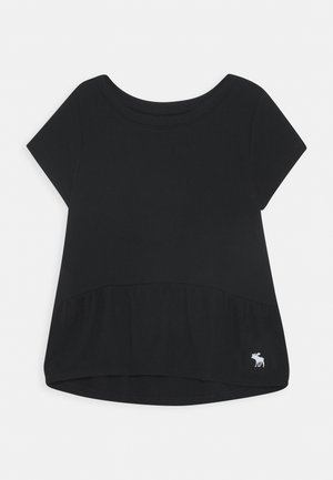 RUCHED TEE - T-shirt basique - black