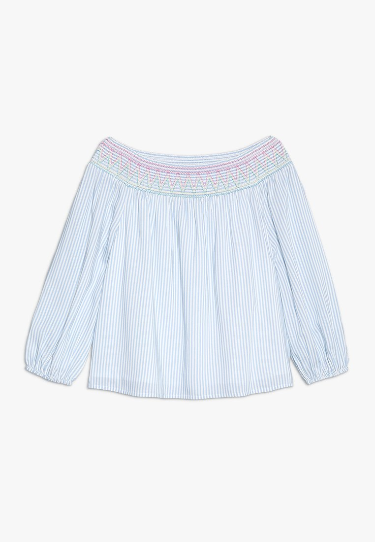 Abercrombie & Fitch - SMOCKED FASHION  - Bluse - blue/white