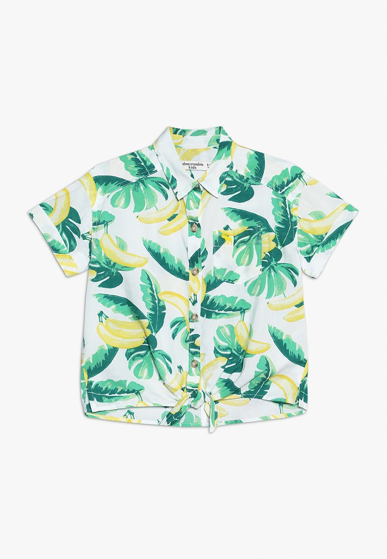 Abercrombie & Fitch - TIE FRONT - Skjortebluser - white