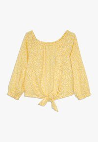 Abercrombie & Fitch - TIE FRONT BELL SLEEVE  - Bluser - yellow ditsy - 0