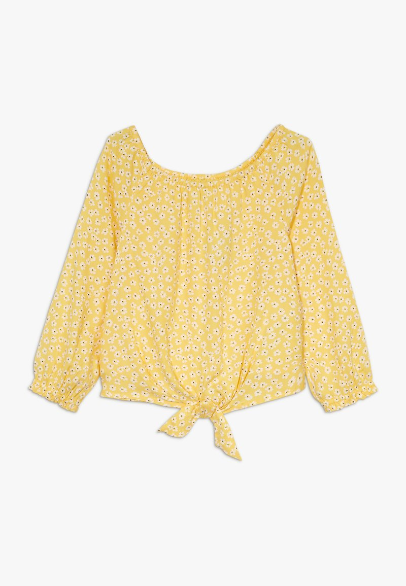 Abercrombie & Fitch - TIE FRONT BELL SLEEVE  - Bluser - yellow ditsy