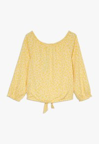 Abercrombie & Fitch - TIE FRONT BELL SLEEVE  - Bluser - yellow ditsy - 1