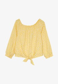 Abercrombie & Fitch - TIE FRONT BELL SLEEVE  - Bluser - yellow ditsy - 3