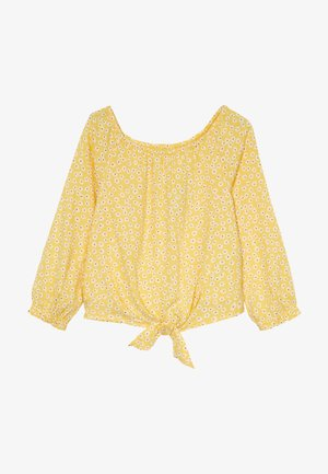 TIE FRONT BELL SLEEVE  - Blůza - yellow ditsy