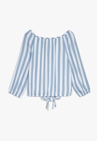 Abercrombie & Fitch - TIE FRONT BELL SLEEVE  - Blouse - blue/white - 1