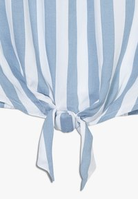 Abercrombie & Fitch - TIE FRONT BELL SLEEVE  - Blouse - blue/white - 2