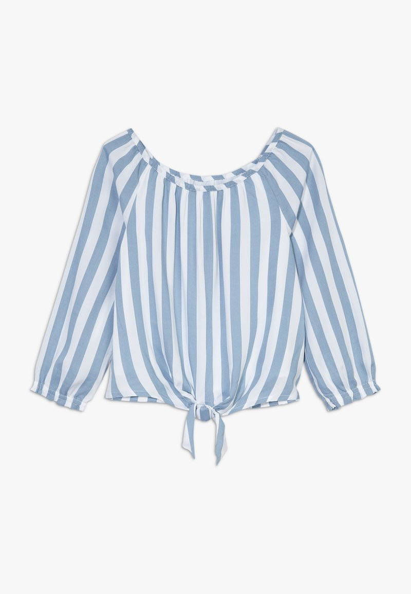 Abercrombie & Fitch - TIE FRONT BELL SLEEVE  - Blouse - blue/white