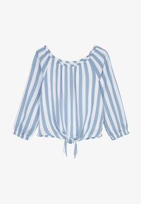 Abercrombie & Fitch - TIE FRONT BELL SLEEVE  - Blouse - blue/white - 3