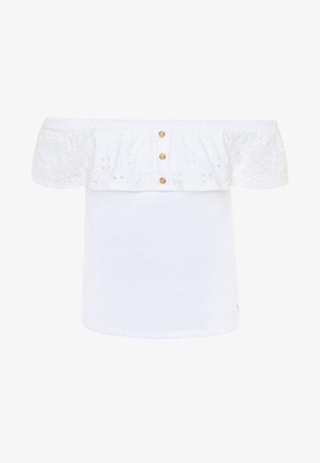 BUTTON THRU - T-shirt med print - white