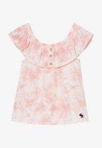 Abercrombie & Fitch - BUTTON THRU - Print T-shirt - dye effect - 3