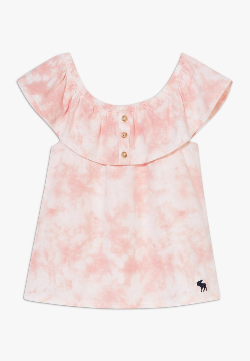 Abercrombie & Fitch - BUTTON THRU - Print T-shirt - dye effect