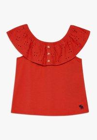 Abercrombie & Fitch - BUTTON THRU - T-shirt imprimé - red - 0