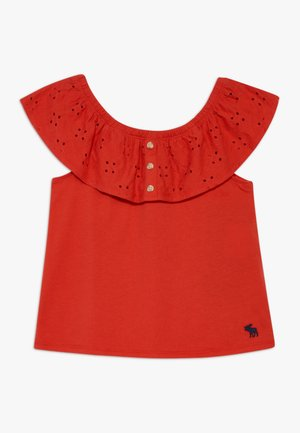 BUTTON THRU - Camiseta estampada - red