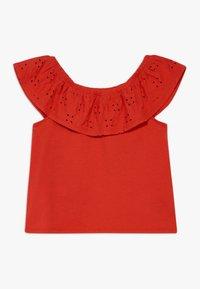 Abercrombie & Fitch - BUTTON THRU - T-shirt imprimé - red - 1