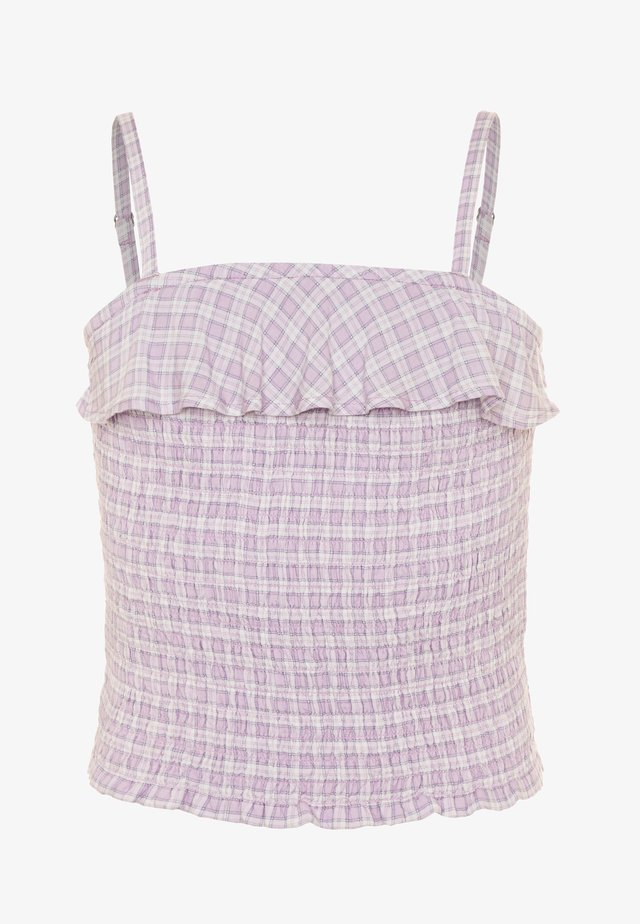 SMOCKED MATCH  - Top - lilac