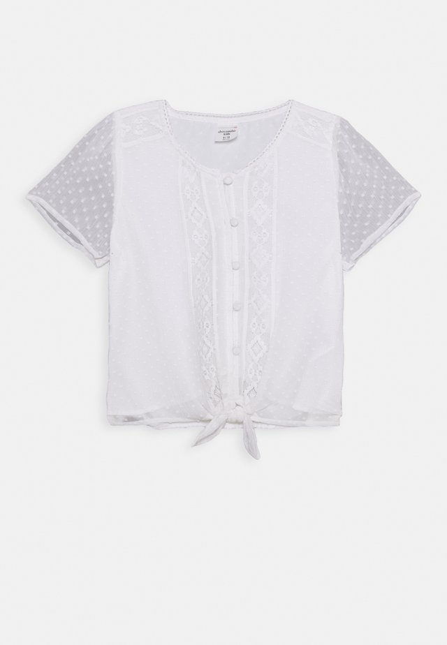 TIE FRONT - Bluse - white