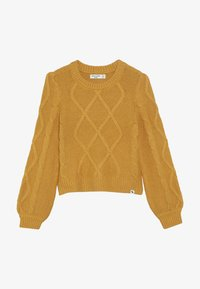 Abercrombie & Fitch - CABLE SHINE LAYER - Jumper - yellow - 3