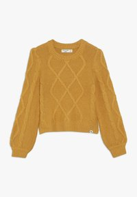 Abercrombie & Fitch - CABLE SHINE LAYER - Jumper - yellow - 0