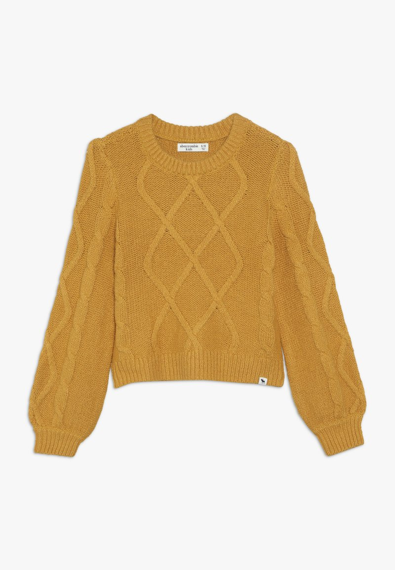 Abercrombie & Fitch - CABLE SHINE LAYER - Jumper - yellow