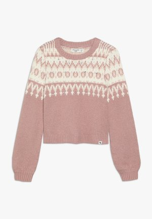 CABLE SHINE LAYER - Jumper - pink fair isle