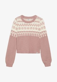 Abercrombie & Fitch - CABLE SHINE LAYER - Svetr - pink fair isle - 3