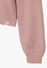 Abercrombie & Fitch - CABLE SHINE LAYER - Svetr - pink fair isle - 2