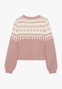 Abercrombie & Fitch - CABLE SHINE LAYER - Svetr - pink fair isle - 1