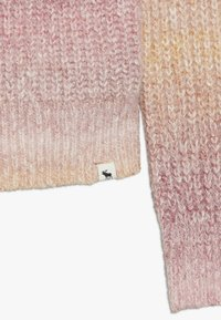 Abercrombie & Fitch - MARILYN NECKLINE - Maglione - pink space dye - 3