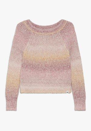 MARILYN NECKLINE - Pullover - pink space dye