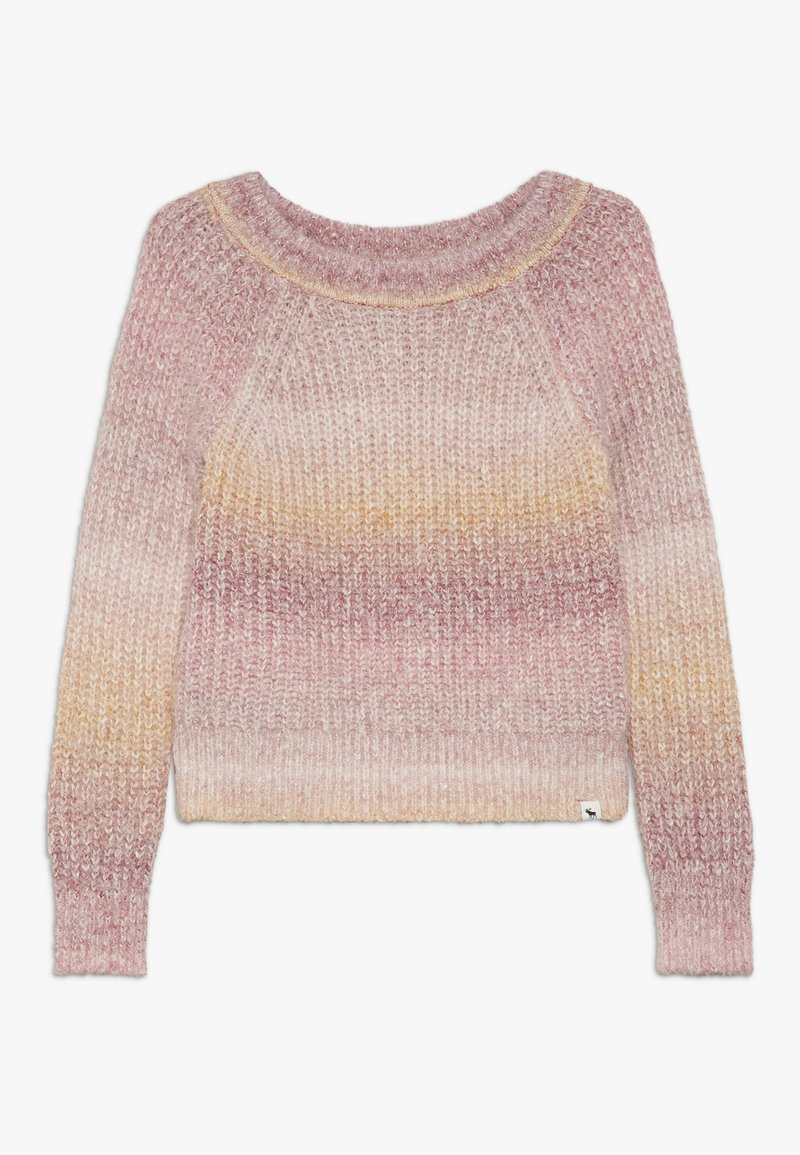 Abercrombie & Fitch - MARILYN NECKLINE - Maglione - pink space dye