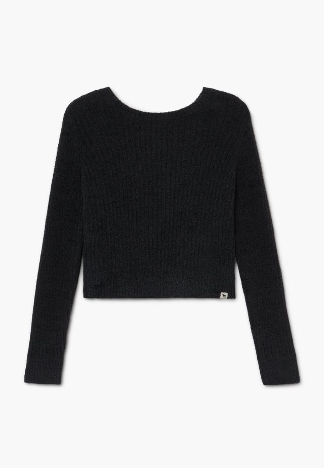 BACK DETAIL MATCH - Strickpullover - open black