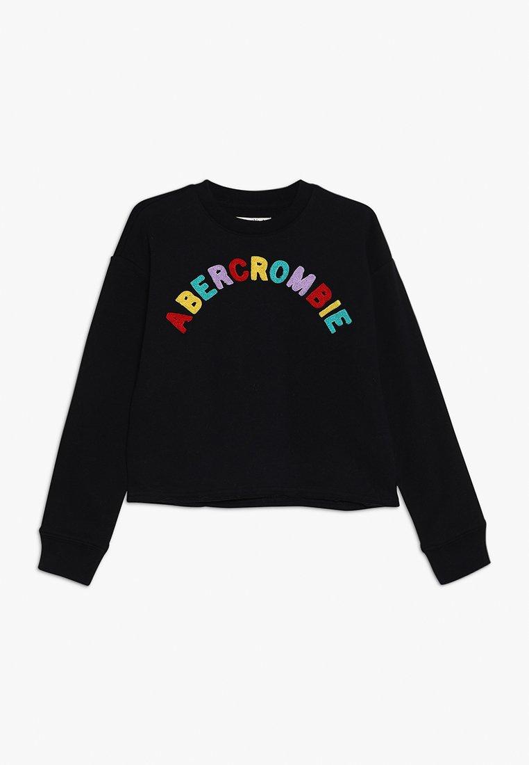 Abercrombie & Fitch - MATCHBACK CREW - Sweatshirt - black