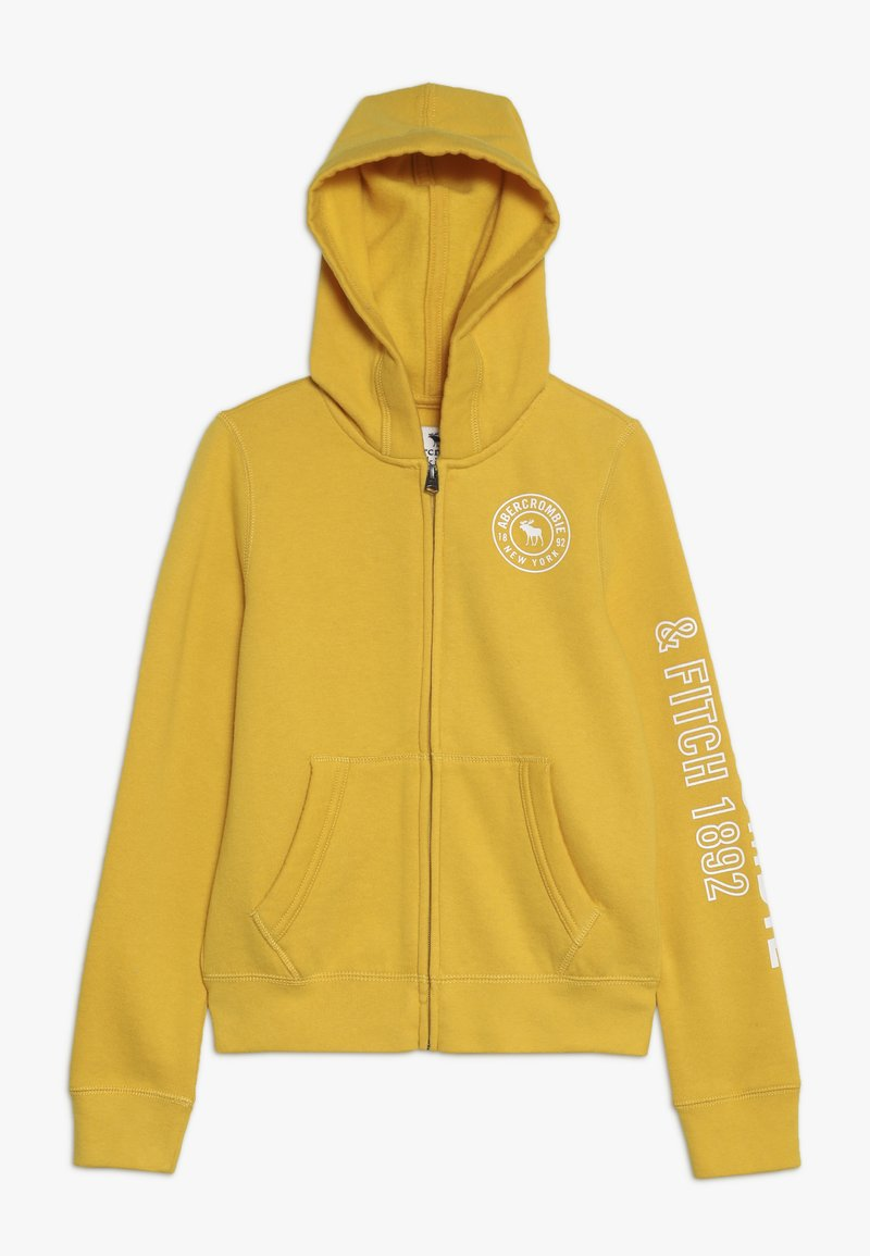Abercrombie & Fitch - Mikina na zip - yellow