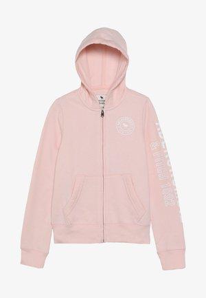 Mikina na zip - pink