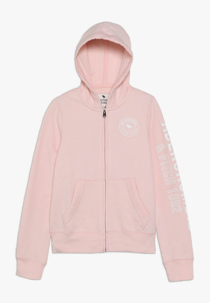 Abercrombie & Fitch - Mikina na zip - pink