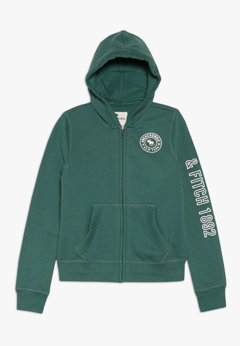 Abercrombie & Fitch - Mikina na zip - green