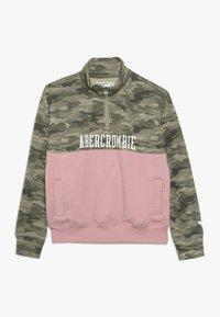 Abercrombie & Fitch - YOKE BLOCKED - Sweatshirt - pink - 0