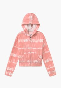 Abercrombie & Fitch - CORE FULLZIP WASH - Zip-up hoodie - pink - 0