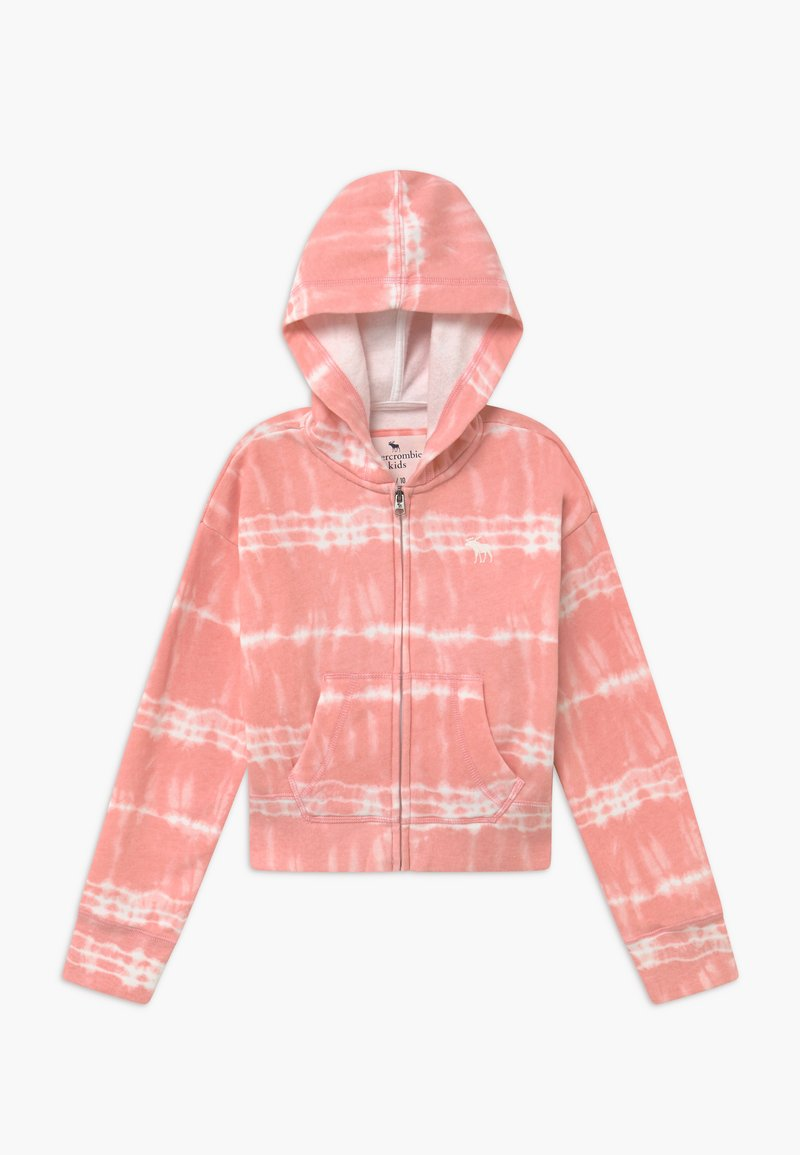 Abercrombie & Fitch - CORE FULLZIP WASH - Zip-up hoodie - pink