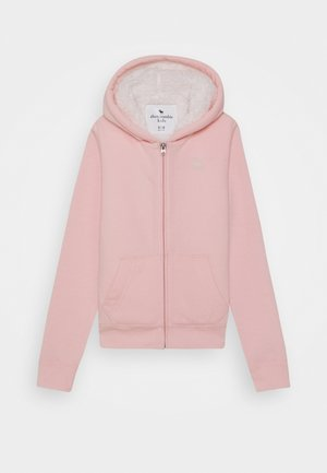 Zip-up hoodie - light pink