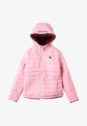 REVERSIBLE PUFFER - Winter jacket - pink/burg